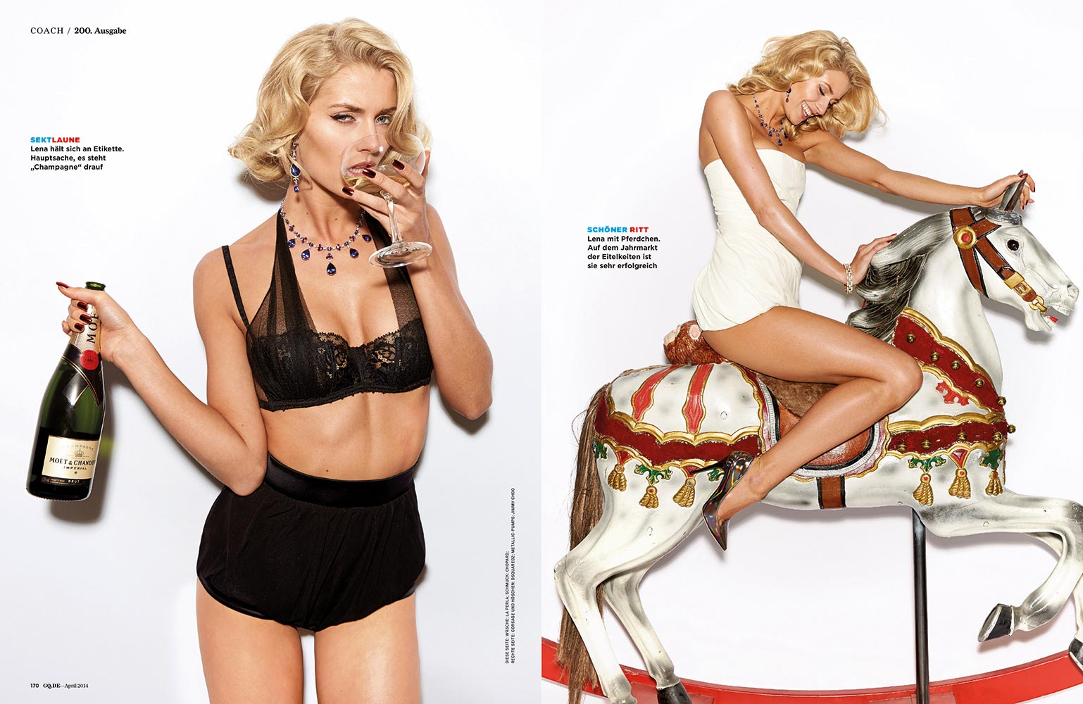 Lena Gercke - GQ Magazine (Germany) - April 2014 Issue
